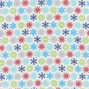 Multi Flakes Folk Art Holiday Fabric - per quarter metre
